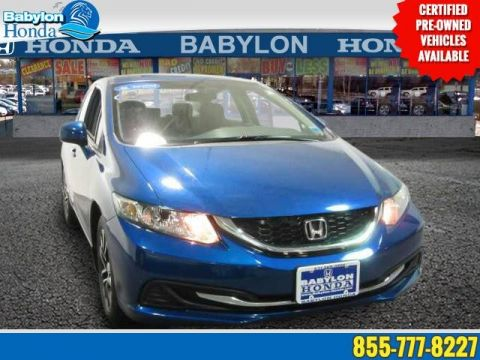 Certified Pre-Owned 2013 Honda Civic Sdn EX Front Wheel Drive Sedan